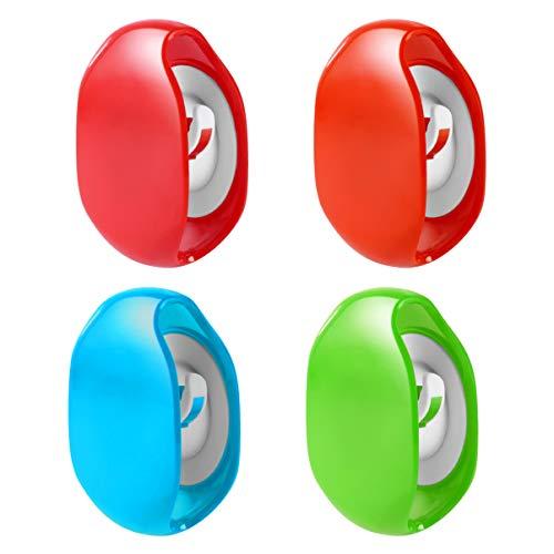 POPETPOP 4 Stks Automatische Kabeloproller Intrekbare Snoeroproller Draad Opslag Huishoudster Voor Usb Kabels Hoofdtelefoon Kabel (Oranje Rood Groen Blauw)