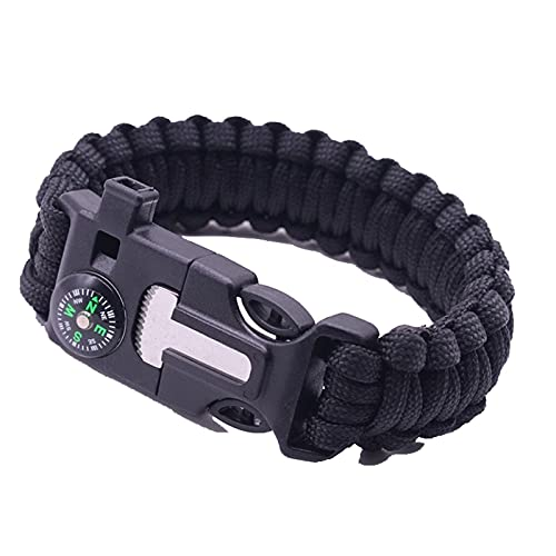 Multifunctional Outdoor Bracelet For Men Compass Blade Whistle Parachute Rope Military Paracord Tactical Wrist Strap Gift