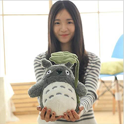 Totoro muñeca de Peluche de Juguete de Felpa Almohada Decorativa Perfecta for Unas Vacaciones de cumpleaños de la Novia de Regalo Kid (Hoja de Loto) (Size : S)