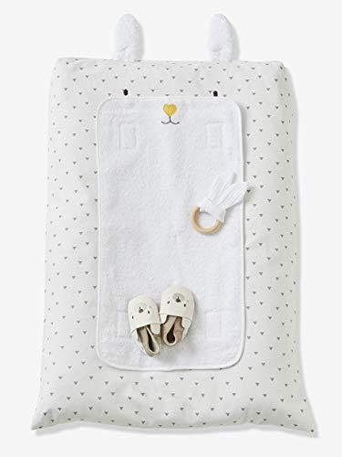 Funda para cambiador de bebé, diseño de conejo, Estampado en blanco., talla única