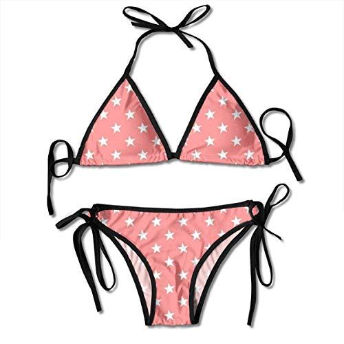 Candi-Shop Damen Badeanzüge Pentagram Damen zweiteiliges Dreieck Bikini Set Badeanzüge Badeanzüge Beachwear