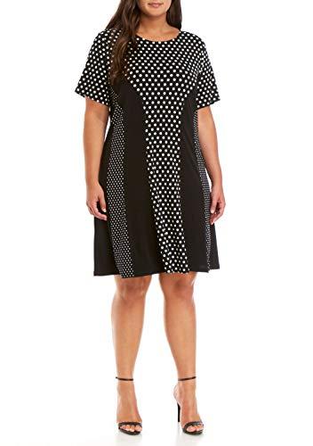 Michael Michael Kors Women's Plus Size Dot Mix Print Dress...