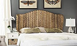 Amazon Safavieh Home Collection Nadine Winged Headboard in Banana Leaf and Wood