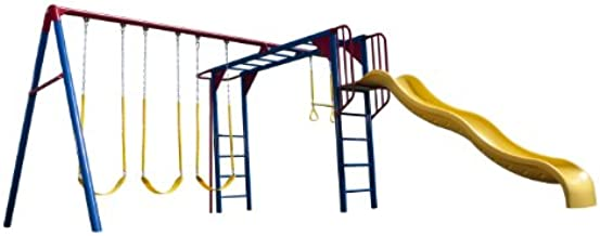 Lifetime Monkey Bar Adventure Swing Set, Primary Colors