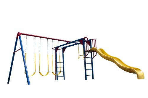 Lifetime Monkey Bar Adventure Swing Set, Primary Colors