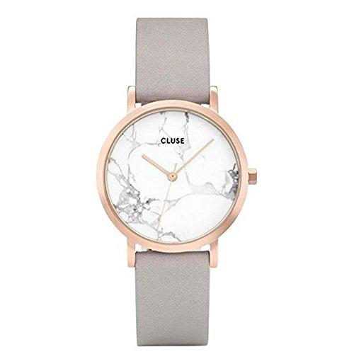 Cluse Unisex Erwachsene Digital Quarz Uhr mit Leder Armband CL40103