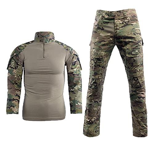 Uniforme De Combate Para Hombres Militares, Traje, Camisa Y Pantalón, Traje, Uniforme De Camuflaje, Deportes Al Aire Libre, Transpirable, Secado Rápido, Absorbe El Sudor, Comodidad,A,XXL