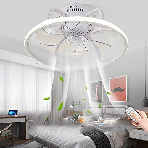 Ventilador De Techo LED Con Iluminación Y Control Remoto Ventilador Moderno Lámpara De Techo Regulable Fan Lámpara Colgante Habitación De Niños Dormitorio Sala De Estar Comedor Luz De Techo