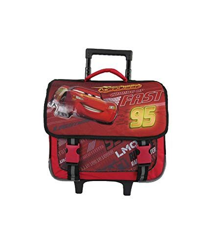 Bagtrotter Cartable A roulettes 38cm Rouge-Cars