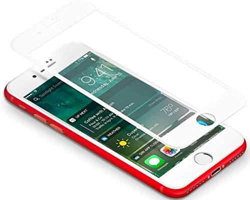 SAGPAD [2 Piezas] Cristal Templado para iPhone 6 Plus/ 6s Plus, Cubierta Completa Vidrio Templado 9H Protector Pantalla Premium, Anti-Huella Digital, Anti-Burbujas par 6 Plus / 6s Plus (Blanco)