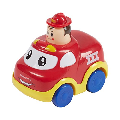 Solini Feuerwehrauto Push & Go / Kinderspielzeug elektrisch / rot/gelb/blau