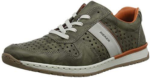 Rieker Herren Frühjahr/Sommer B5135 Sneaker, Grün (Olive/Cement/Amaretto 56), 43 EU