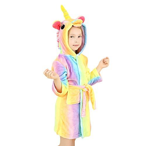 Preisvergleich Produktbild wgde toy Spielzeug für 2-3 jährige Mädchen,  Weich Einhorn Kapuzen Bademantel Nachtwäsche für Kinder Einhorn Spielzeug für 2-3 jährige Mädchen Einhorn Geschenke für 2-3 jährige Mädchen
