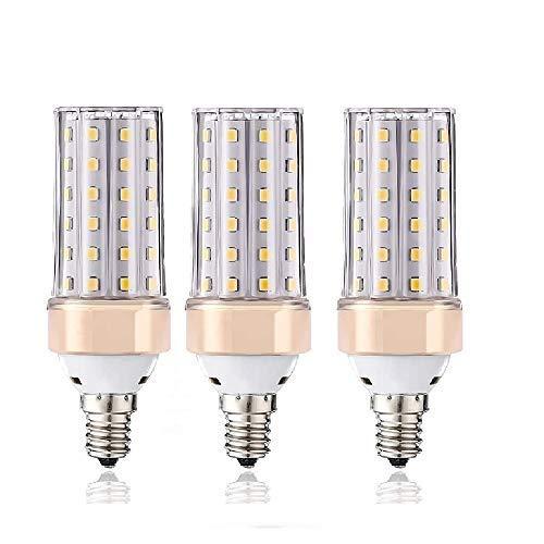 ILAMIQI LED-Leuchtmittel, E14, dimmbar, 10 W, LED-Kerzenleuchter, entspricht 100 Watt, 1200 lm, dekorativer Kerzensockel, energiesparend, neutrales Weiß, 4000 K LED-Lampe, 3 Stück…
