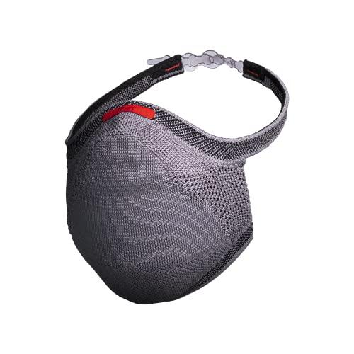 Máscara Esportiva Knit - Cinza Tamanho G, Fiber, Cinza