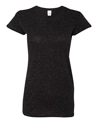 J. America T-Shirt à col Rond pour Femme Noir à Paillettes - Noir - X-Small