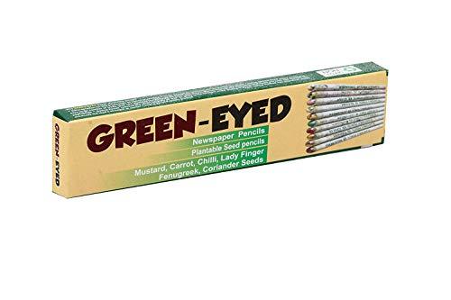 Green Eyed - Special Edition - Rainbow Plantable 10 verschiedene Samenstifte, 100% biologisch abbaubar, alte Zeitung anstelle von Holz