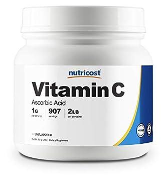 Nutricost Ascorbic Acid Powder  Vitamin C  2 LBS - Gluten Free Non-GMO