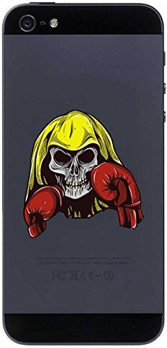 Handyaufkleber Handyskin Sport 118 - Totenkopf - Skull mit Boxhandschuh - 50 x 53 mm Aufkleber