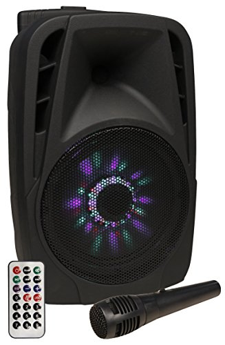 HOLLYWOOD the Starsound - Mobile Beschallungsanlage/PA-Anlage | MB-8 LED | 300W, Kabelmikrofon