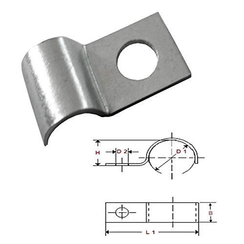 FKAnhängerteile 50 x Kabelschelle, Kabelfixierung für Kabel bis Ø 6 mm