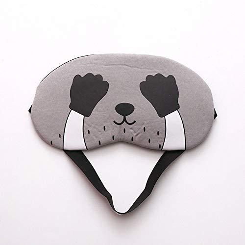 Color caramelo Precioso animal de dibujos animados Máscara de ojos para dormir Suave acolchada Sueño Viaje Sombra Cubierta Relájese Dormir con los ojos vendados 🔥