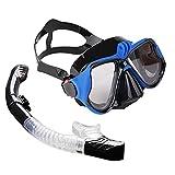 GoRIKI Gafas de buceo con montura de tornillo, panorámicas HD...