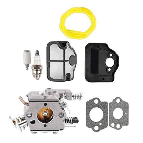 BLTR Filtro de Aire Carburador Motosierra Power Tool Kit de reparación for Hus-qvarnA 36 41, Gasolina Cortasetos Motosierra Motosierra carburador Cortasetos reemplazo de la tubería de combusti