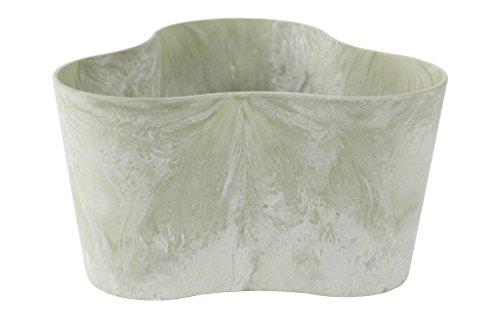 Artstone 136221 Claire - Vaso per piante triangolare, resistente al gelo e leggero, eucalipto, 26 x 26 x 14 cm