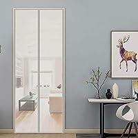 網戸 玄関カーテン 200x220cm マグネット式 網戸 簡単取り付け マジックテープ付き 部屋/キッチンに/ドア/サッシドア 開き戸に適用, 灰
