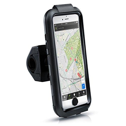 Arendo - spritzwasserdichte Fahrradhalterung für Apple iPhone 6 Plus 7 Plus 8 Plus (5,5 Zoll - Fahrrad Case Tasche - Handy Smartphone-Halterung - einfache Bedienung