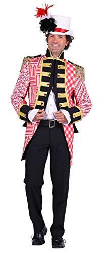 T2894-0502-S - Chaqueta de uniforme para hombre, color rojo y blanco, talla S