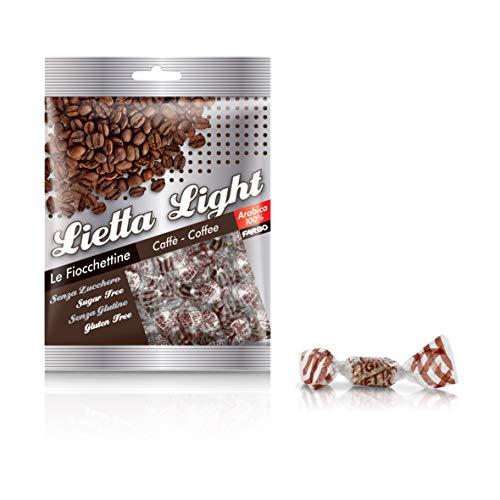 Caramelle Farbo zuckerfreie Kaffeebonbons mit Süßungsmitteln, glutenfrei, 50 g - Lietta Light