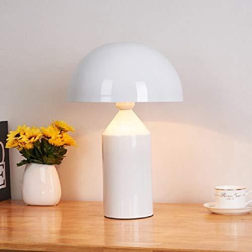 Zaklamp White 220V E14 LED Metal Mushroom tafellamp slaapkamer decoratieve tafellamp, Maat: S Bedside Desk Tafellamp