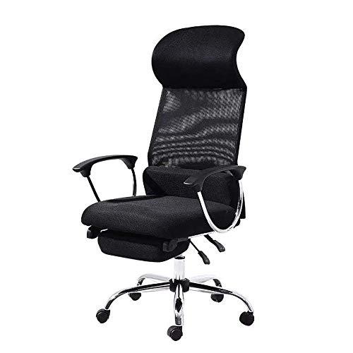 Busirsiz Simple silla de oficina ergonómico silla reclinable de elevación Rotary Polea for sillas de malla transpirable escritorio del ordenador portátil Silla de escritorio Soporte trasero de la sill