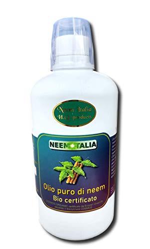 Olio di Neem puro per la pelle, biocertificato Ecocert Biocertitalia spremuto a freddo + sapone 100g neem