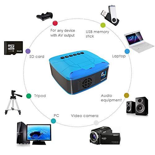 Video Projectors, Mini Projectoren USB HDMI AV Video Draagbare Projector Voor Home Theater Movie Beamer