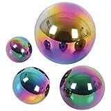 TickiT 72221 Sensory - Bolas Reflectantes para niños, 4 Unidades, Acero Inoxidable, 60 a 150 mm de diámetro