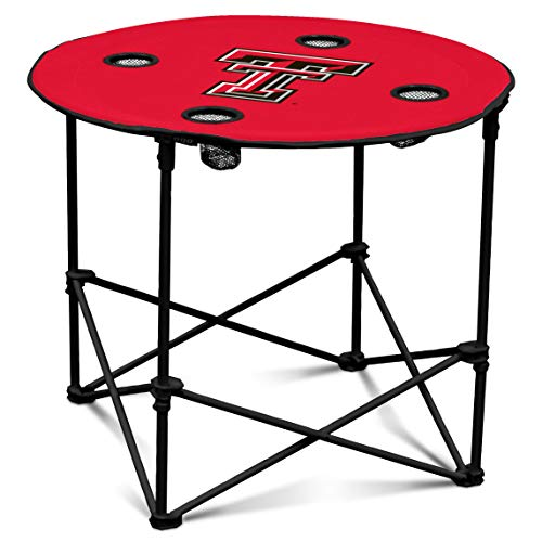Logo Brands NCAA Texas Tech Red Raiders Round Table, One Size, Team Color
