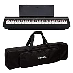 THIS BUNDLE INCLUDES: (1)Yamaha P121 73-Key Weighted Action Compact Digital Piano, Black (1)Yamaha SCKB750 Soft case for P121 The black SC-KB750 Soft Keyboard Case for P-121 Digital Piano from Yamaha is an affordable and effective way to store or tra...