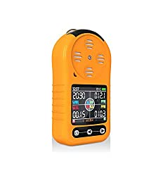 Multi Gas Detector O2, CO, H2S, LEL Tester Handheld Portable Gas Monitor Meter with LCD Display Screen Sound Light Alarms Gas Sensor