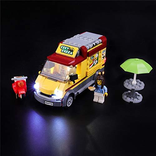 Nlne Jeu De Lumières pour (City Le Camion Pizza) Modèle en Blocs De Construction - Kit De Lumière A LED Compatible avec Lego 60150(Ne Figurant Pas sur Le Modèle)