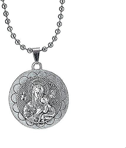BEISUOSIBYW Co.,Ltd Collar Collar de Plata Virgen María Nuestro Amor Mujer y Espíritu Santo Collar Mujer/Hombre Joyas al por Mayor Collares Collar Colar Niñas Niño