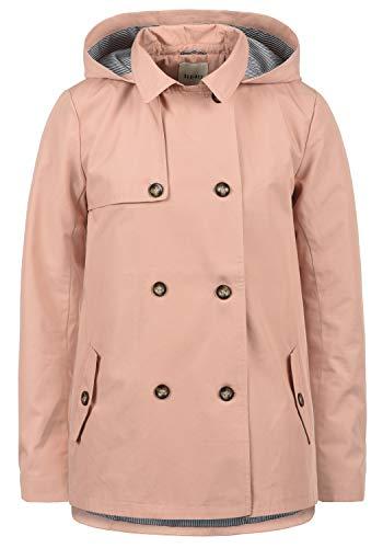 Desires Tine Giacca Trench Coat Transitorio da Donna con Cappuccio, Taglia:M, Colore:Mahog. Rose (4203)