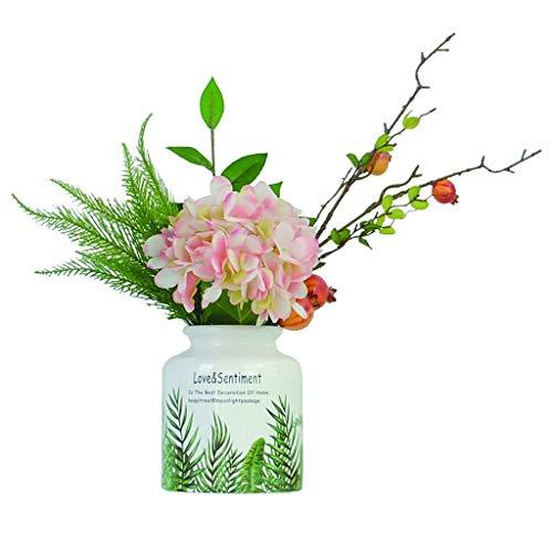 NYKK Künstliche Blume Simple Style Hydrangea Granatapfel-Blumen-Mix and Match Simulation Blumen for Wohnzimmer Schlafzimmer Büro Anzeige Gefälschte Blume Bonsai Ewige Blume