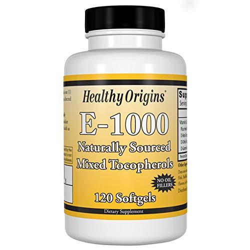 Healthy Origins, , E-1000, tocoferoli misti naturali al 100%, 120 capsule