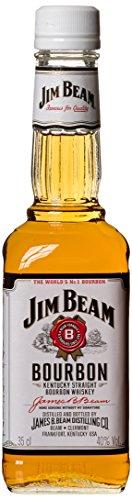 Jim Beam White Kentucky Straight Bourbon Whiskey, vollmundiger und milder Geschmack, 40% Vol, 1 x 0,35l