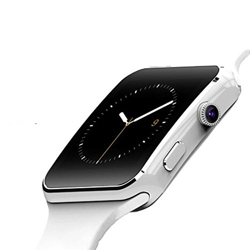 Ocamo X6 Bluetooth Waterproof Smart Watch Smartwatch Camera for iOS Android Samsung White
