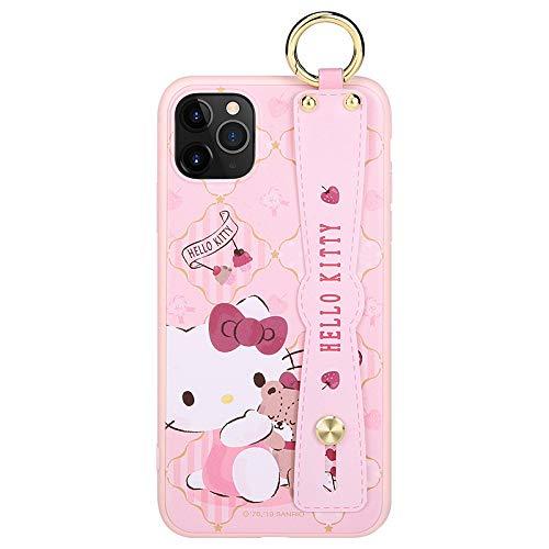 Velyon Hello Kitty funda para teléfono móvil 11 pulsera soporte 11Pro Max caso mujer (iPhone 11 pro)