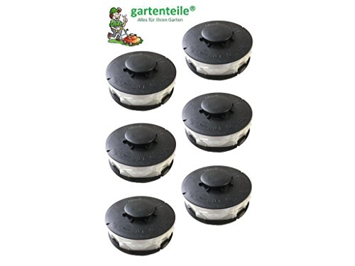 6 Spulen passt für EINHELL CG-ET4530 / Ersatzspule/Doppel - Fadenspule passend für Elektro Rasentrimmer/Freischneider/Kantentrimmer Spule Einhell CG-ET4530